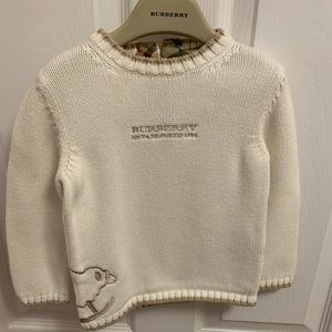 Burberry long sleeve sweater - size 18M